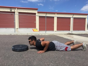 Athletes chest and hips must make contact with the ground at the bottom of the burpee