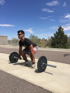 Bar must begin on the ground for the squat clean thruster