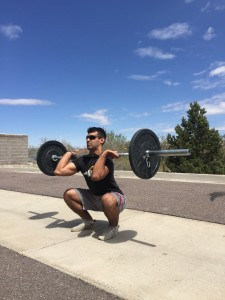 A full (squat clean) must be performed