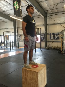 Full hip/knee extension and exhibit control at the top for the rep to count
